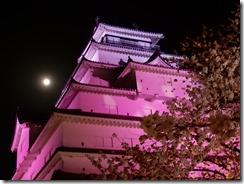 2019年(平成30年)4月18日 夜桜に映える鶴ヶ城  No,1