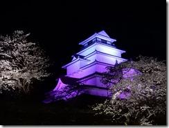 2019年(平成30年)4月18日 夜桜に映える鶴ヶ城  No,4
