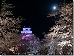 2019年(平成30年)4月18日 夜桜に映える鶴ヶ城  No,